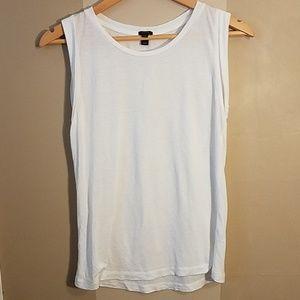 J. Crew white sleeveless tshirt size xs
